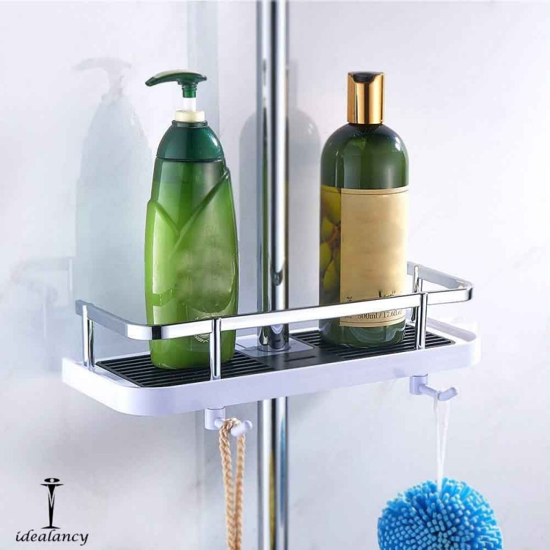 Bathroom Shower Pole Shelf